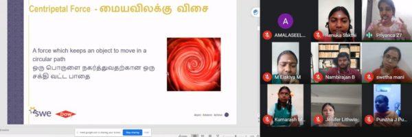 Virtual STEM Outreach Experience with School Girls in Chennai Chennai