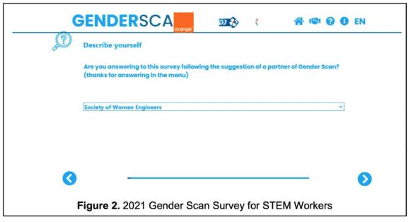 gender scan survey screenshot