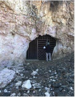 mining engineer at mine entrance