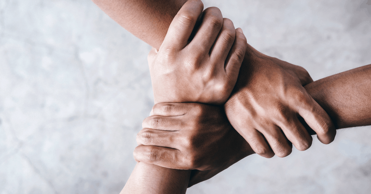 diverse hands - collaboration, support, teamwork