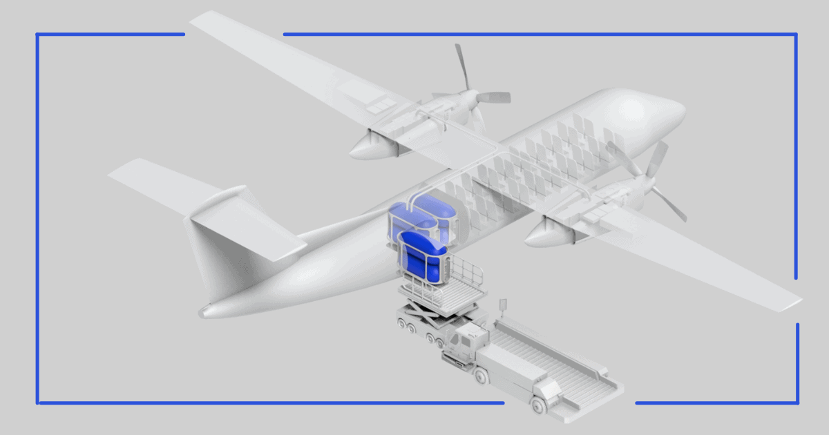 Universal Hydrogen aviation rendering