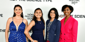 Left to right: Dr. Jessica Taaffe, Gitanjali Rao, Dr. Jayshree Seth, Dr. Ciara Sivels