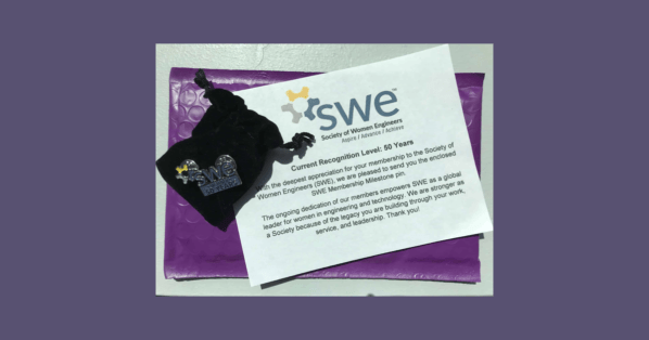 SWE Sends Out Membership Milestone Pins for those Celebrating Milestones in FY22 (7/1/2021 – 6/30/2022) -