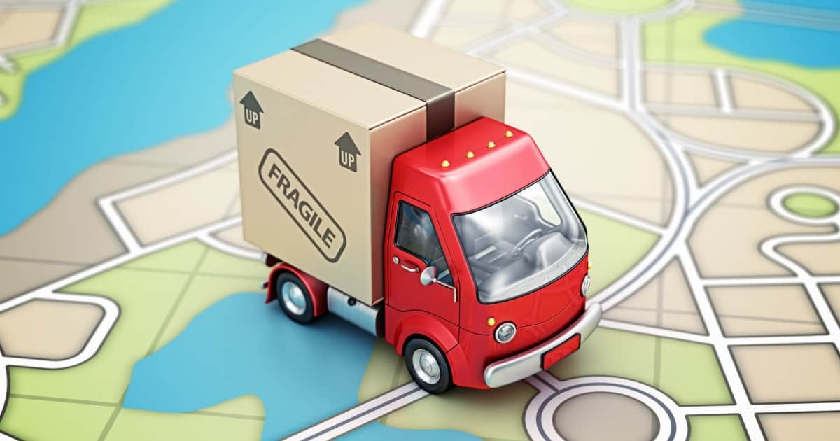 moving truck on map