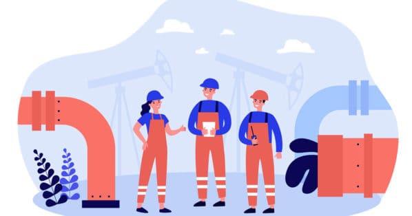 illustration of engineers