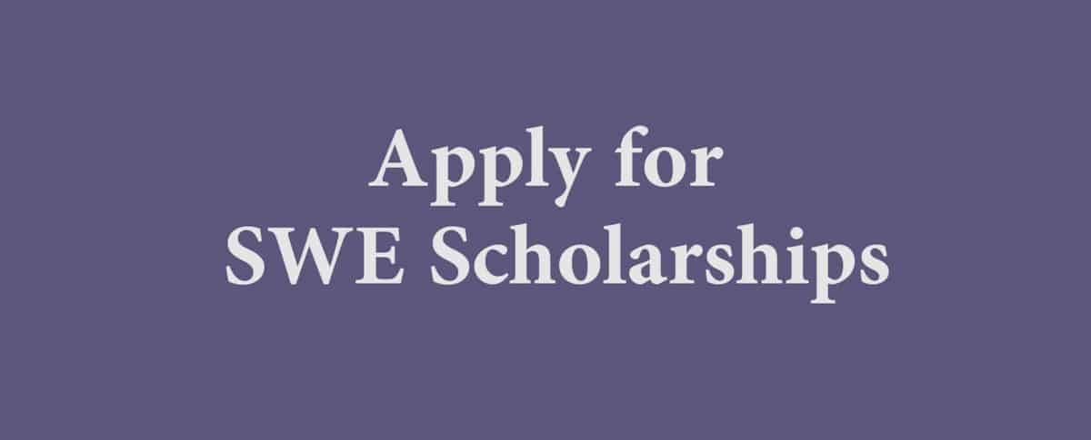 Apply For Swe Scholarships